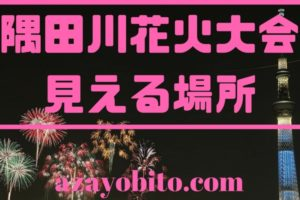 隅田川花火大会見える場所