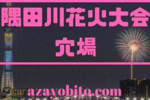 隅田川花火大会穴場