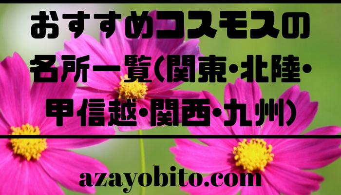 おすすめコスモスの名所一覧(関東・北陸・甲信越・関西・九州)