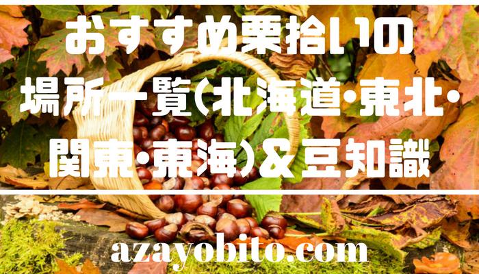 おすすめ栗拾いの場所一覧(北海道・東北・関東・東海)&豆知識